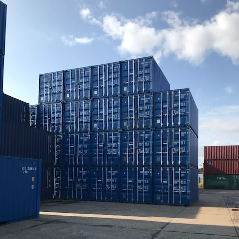 Shipping containers ready for delivery