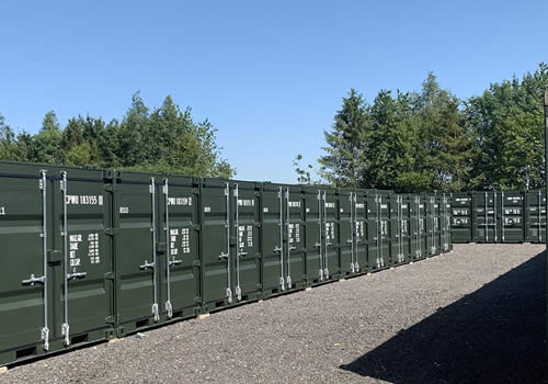 Self storage containers in different sizes